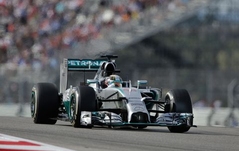 There was no catching Lewis Hamilton at Circuit of the Americas on Sunday.