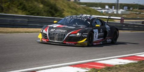 The No. 2 Audi of Rene Rast, Markus Winkelhock and Laurens Vanthoor won the 24 Hours of Spa.