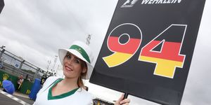 Grid girl Samantha Young is a British grid girl who has worked in several series, including Formula 1, the British Touring Car Championship and the British GT Championship.