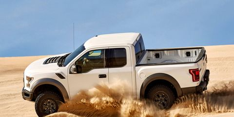 The new F-150 Raptor has a special Baja mode to help you in your conquest of the desert.