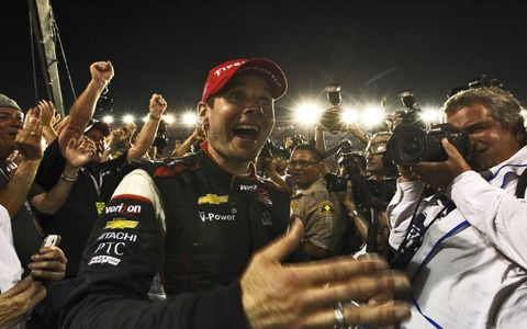 Will Power basks in the glow after he was crowned the 2014 IndyCar champion.