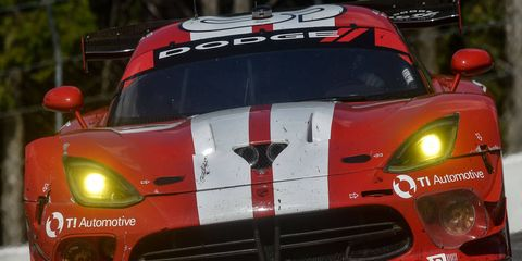 Kuno Wittmer and Jonathan Bomarito drove the Viper GTS-R to a second-place finish in the GT Le Mans class of the IMSA Tudor United SportsCar Championship race in Canada on Sunday.
