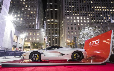 The 70th Anniversary celebration of Ferrari continues this weekend in New York City, with four (or for a lucky few, five) events all a subway ride away. Or a Ferrari drive away, depending.