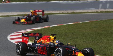 Red Bull Racing denied that it gave Max Verstappen a better strategy than Daniel Ricciardo at the Spanish Grand Prix.