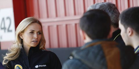 """Carmen Jorda, who has never finished higher than 28th in a GP3 race, yet somehow got a job as a Formula One development driver, thinks women racers cannot compete with men because of """"the physical issue."""""""