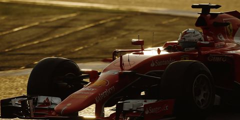 Sebastian Vettel knows Mercedes will be tough this year, but he's hoping Ferrari can keep up.