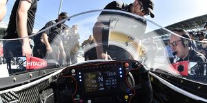 Here is what the new IndyCar windscreen looks like from behind the steering wheel.
