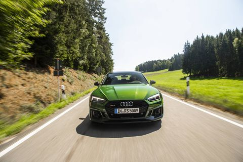 The 2019 Audi RS5 Sportback comes with a 444-hp twin-turbo V6.