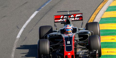 Romain Grosjean qualified sixth in Melbourne before a water leak sent him to the sidelines after just 13 laps.