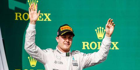 Nico Rosberg hopes to be celebrating an F1 championship this Sunday.