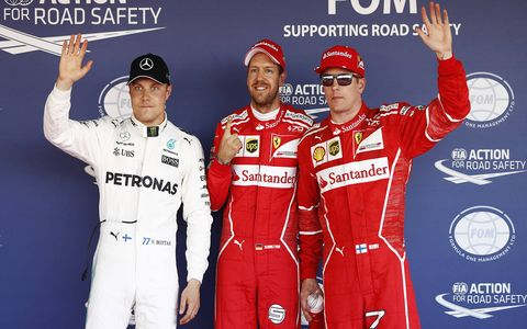 Sebastian Vettel led Saturday's free practice then later won the pole for the F1 Russian Grand Prix.