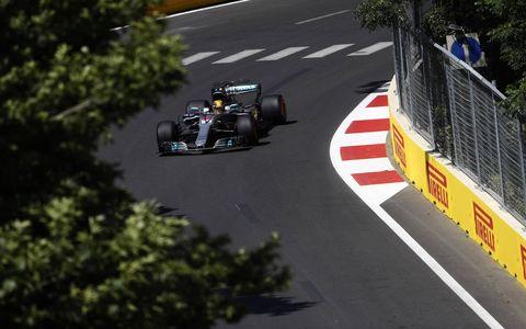 Sights from the Formula 1 action at Baku, Saturday, June 24, 2017.