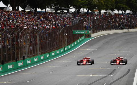 Sights from the Formula 1 action ahead of the Brazilian Grand Prix, Saturday, Nov. 11, 2017.
