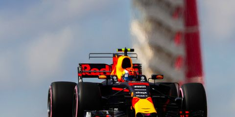 Max Verstappen finished third at Circuit of the Americas before a penalty for an illegal pass dropped him to fourth.