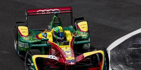 Lucas Di Grassi fell to the back of the field near the start of Saturday's race.