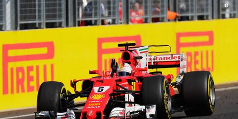 Sebastian Vettel raced to his fourth victory of the 2017 Formula 1 season on Sunday in Hungary.