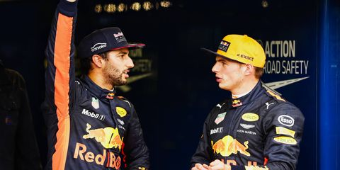 Both Red Bull drivers qualified inside the top three in Italy but will start at the rear of the field due to engine infractions.