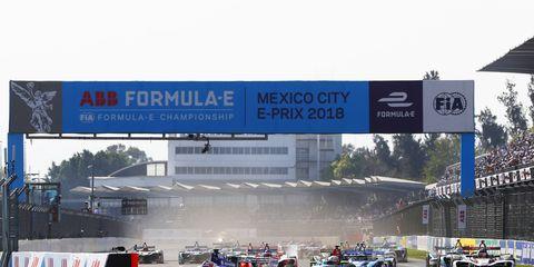 Sights from the Formula E Mexico City E-Prix , Saturday March 3, 2018.