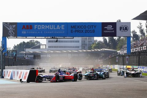 Sights from the Formula E Mexico City E-Prix , Saturday March 3, 2018.