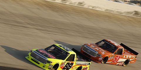 Matt Crafton won Friday night's NASCAR truck race at Dover.