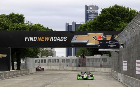 Chevy and Sebastien Bourdais owned the day on Belle Isle with Sunday's Verizon IndyCar Series win.