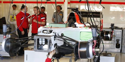 The Manor Marussia F1 cars did not make it out of the garages in Melbourne.