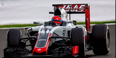 Santino Ferrucci took his first laps in a Formula 1 car this week at Silverstone.