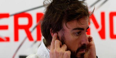 Fernando Alonso was injured