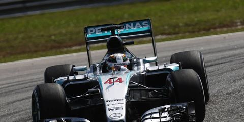 Lewis Hamilton is trying to make it two wins in a row to start the Formula One season.