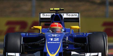 Felipe Nasr is 11th in the Formula One standings.