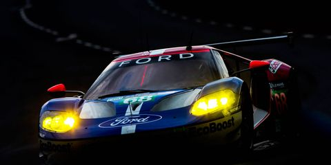 Dirk Muller put the Ford GT on the LMGTE Pro pole in its return to Le Mans.