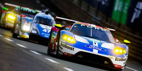 Ryan Briscoe, Richard Westbrook and Scott Dixon finished in third place in the LMGTE class at the 24 Hours of Le Mans in the No. 69 Ford GT.