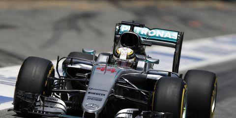Lewis Hamilton won the pole for the Spanish Grand Prix.