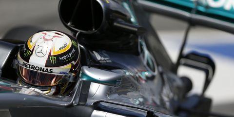 Lewis Hamilton won the pole for Sunday's Spanish Grand Prix.