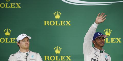Mercedes is not commenting on the feud between Nico Rosberg and Lewis Hamilton.