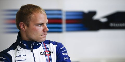 Valtteri Bottas is fifth in the Formula One championship and has one podium in 2015.