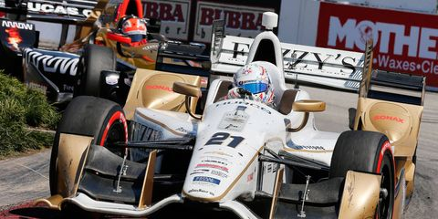 Josef Newgarden scored his lone victory of the 2015 IndyCar season at Barber Motorsports Park in Birmingham, Alabama.