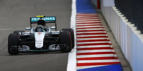 Nico Rosberg won the pole for Sunday's Russian Grand Prix.
