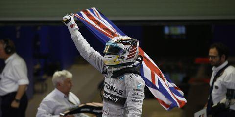 Lewis Hamilton won the Formula One championship in Abu Dhabi on Sunday.