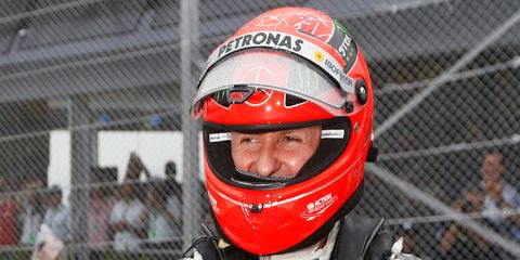 Michael Schumacher has not been seen in public since his skiing accident 15 months ago.