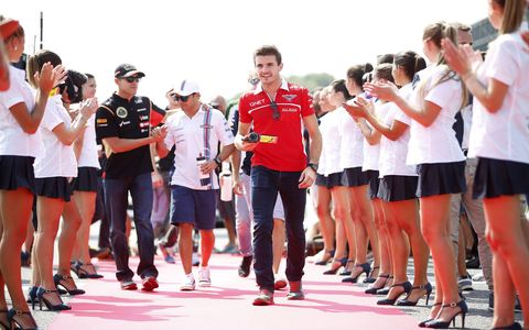 A look at the Formula One racing life in pictures of driver Jules Bianchi, who died Friday from his injuries sustained in an October 2014 crash in Japan.