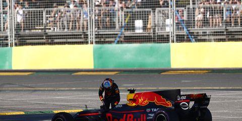 Daniel Ricciardo retired Sunday with a fuel-cell issue.