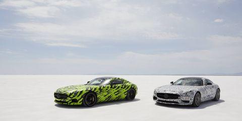 Euro-spec GTS in green, US-spec in B&W.