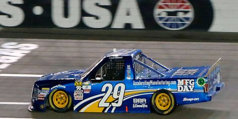 Tyler Reddick, who failed to qualify for this year's inaugural NASCAR Camping World Truck Series Chase, won his first race of the season on Saturday.