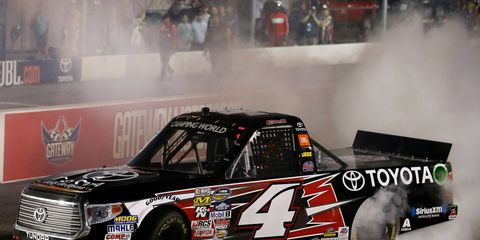 Christopher Bell gave Kyle Busch Motorsports its 50th NASCAR Camping World Truck Series win on Saturday night.