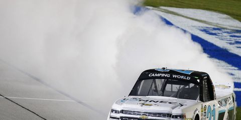 Johnny Sauter won his second Truck race of the season Friday.