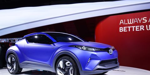 """Toyota says its new C-HR concept introduces a """"diamond architecture"""" styling theme to the segment and we can (sort of) see it."""
