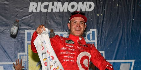 Kyle Larson won his fourth race of the Monster Energy NASCAR Cup Series on Saturday night.