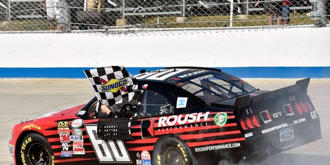 Chris Buescher's second win of the 2015 NASCAR Xfinity Series season leaves him with a 15-point lead in the championship.