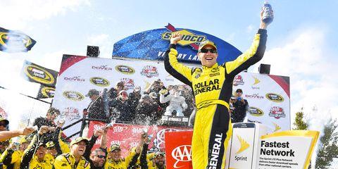 Matt Kenseth won Sunday's NASCAR Sprint Cup race at Dover.